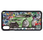 Koolart Stickerbomb & Licensed Mk2 Focus RS Turbo Car Image Mobile Phone Case Cover Fits iPhone